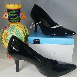 "Black 3"" high heel memory foam"